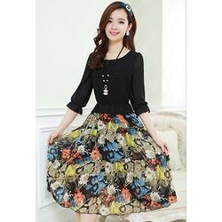 Đầm Maxi Họa Tiết dịu dàng MX1033