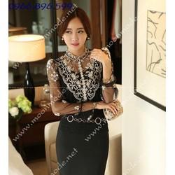Áo kiểu nữ ren sành điệu, thời trang - Mã MM80162