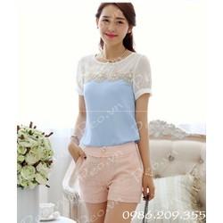 áo kiểu nhẹ nhàng trang nhã ms 580229