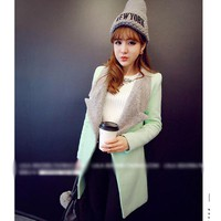 Áo khoác măng tô lông cá tính Mã: AO2052 - XANH