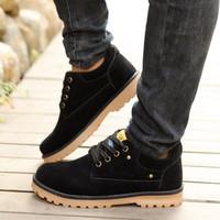 Giày boot cổ thấp da lộn cao cấp Glado - G32