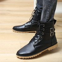 Giày boot cổ cao da nam cao cấp Glado - G34
