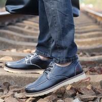 Giày boot da nam cổ thấp Glado - G33