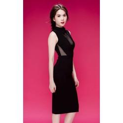 Hàng thiết kế - Đầm đen phối lưới Ngọc Trinh D090