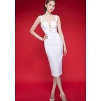 Hàng thiết kế - Đầm ôm body sexy hở ngực Ngọc Trinh D091