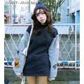 Áo lông nữ tay hình con thú - Mã: AX2277 - XANH ĐẬM
