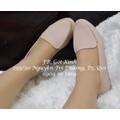 Giày mọi viền dây khóa màu hồng nhạt-GX167