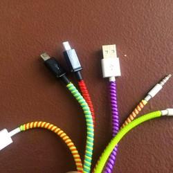 Bộ 10 dây quấn bảo vệ cáp sạc điện thoại, tai nghe