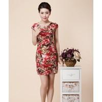 #1 - HÀNG NHẬP ĐÀI LOAN - Đầm công sở ôm gợi cảm in hoa