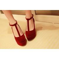 Giày xuồng bầu chữ T 12cm