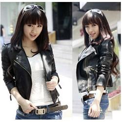 Áo khoác da nữ dài tay cá tính,phong cách hiện đại,sành điệu-AK616