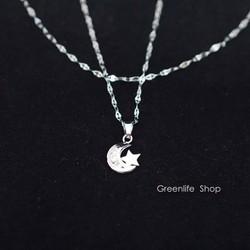 [Greenlife Shop] DX477 - Dây chuyền mặt trăng ngôi sao