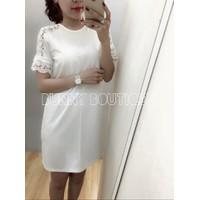 Đầm Suông Viền Tay Ren