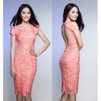 ĐẦM REN CAO CẤP HỞ LƯNG LINH CHI DH537680