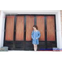 Shop bà bầu : Đầm bầu hàn quốc kiểu suông cổ phối ren trắng đẹp DB312