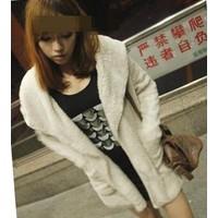 Áo khoác lông nữ phối nón Mã: AO2039 - KEM
