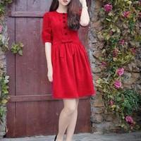 Đầm Váy Công Sở Hàn Quốc D435