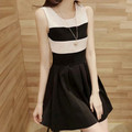 Đầm xòe sọc váy đen - 1219