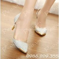 Giày cao gót ánh kim ms 590028
