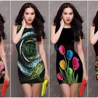 Đầm body hoa 3D Ngọc Trinh