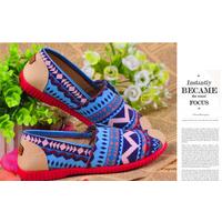 giày vải nữ họa tiết dễ thương  GL3