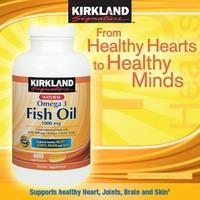 Fish Oil 1000mg của Kirkland 400 viên. Hàng nhập từ Mỹ