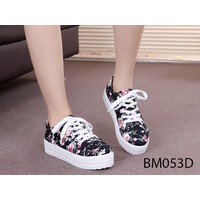BM053D - Giày bánh mì hoa đen