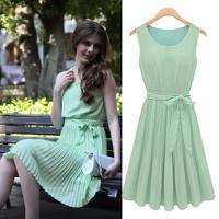Đầm váy liền cột eo xếp ly xinh xắn-D1751