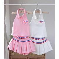 Set áo váy cho bé gái