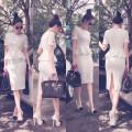 Đầm Công Sở Peplum Giống Ngọc Trinh YKX2180