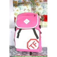 Balo TF hồng trắng dễ thương tạo cho bạn 1 phong cách riêng BLDH141