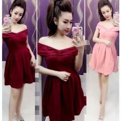 Đầm ren bẹt vai ngoc lang phuong D633