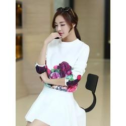 Set váy + áo họa tiết hoa hồng - AB0889