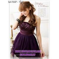 Váy đầm công chúa hàn quốc Mã: DA1087 - TÍM