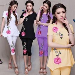 Shop Cún!Bộ Thun Cao Cấp In Hoa