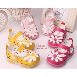 Dép sandal tập đi cho bé gái 3-18 tháng kiểu Hàn Quốc SG8