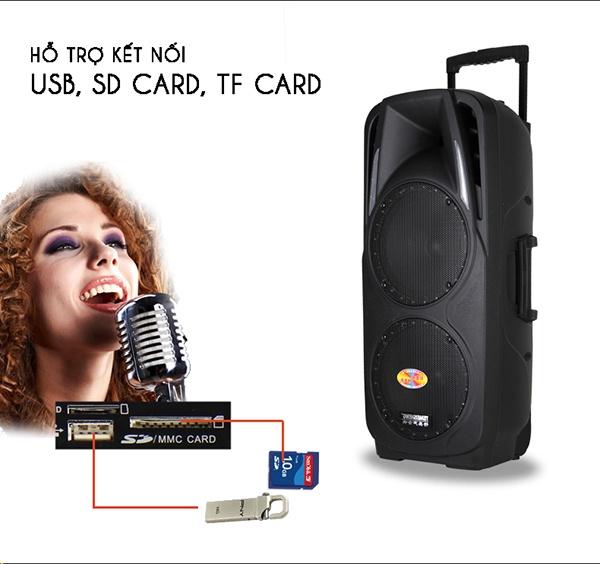 Loa Kéo Bluetooth Temeisheng A73, đen 6