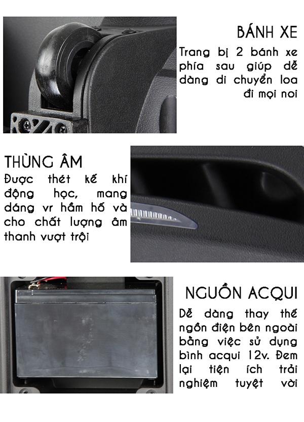 Loa Kéo Bluetooth Temeisheng A73, đen 8