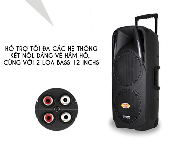 Loa Kéo Di Động Feiyang A73 2 Loa Bass 2