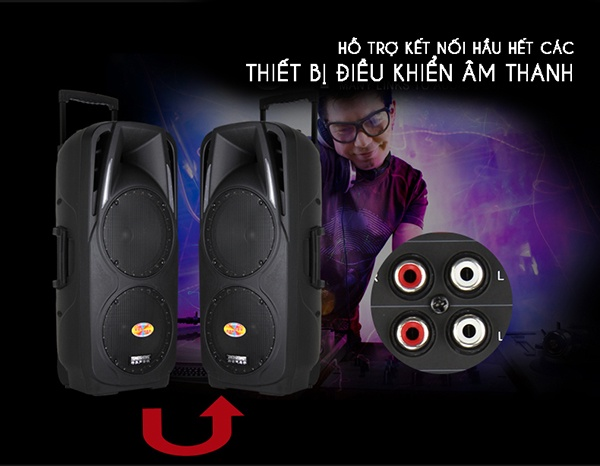 Loa Kéo Di Động Feiyang A73 2 Loa Bass 5
