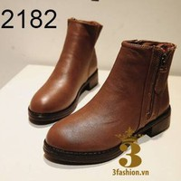 Giày boot nữ - Giày boot thời trang - Giày boot da