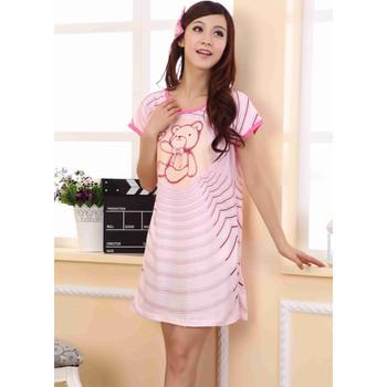 Đầm ngủ họa tiết gấu đáng yêu-DN320