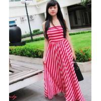 Đầm Maxi sọc cúp ngực dạo phố MXS01
