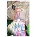 Đầm maxi cúp ngực hoa sắc màu MX20 - Hàng cao cấp