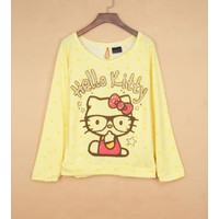 áo thun nữ cánh dơi hello kitty Mã: AC240 - VÀNG