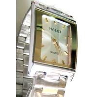 Đồng hồ Halei trắng sọc mặt vuông