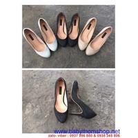 Giày cao gót mũi tròn hàng xuất khẩu đủ size chuyên sỉ lẻ GC130