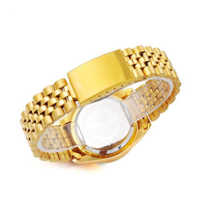 Đồng hồ nam cao cấp mạ vàng đính đá, chống thấm chống nước Bosck Japan 1