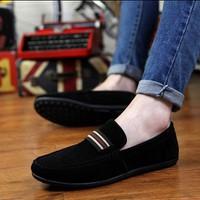 Giày mọi da lộn cao cấp Hàn Quốc Posashop M032