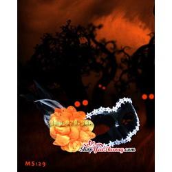 Mặt nạ Halloween - Mặt nạ hóa trang Hoa hồng Vàng